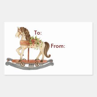 Rocking Horse - Gift Tags Rectangular Sticker