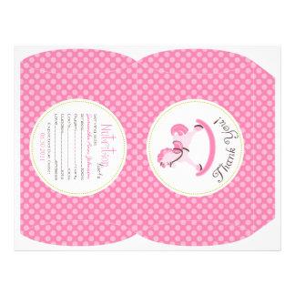 Rocking Horse Girl Puff Box Template A2 21.5 Cm X 28 Cm Flyer