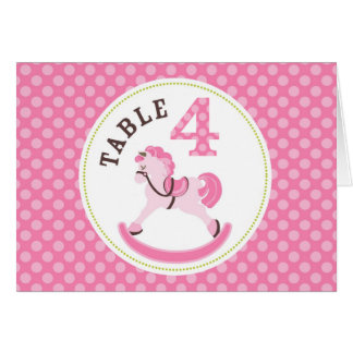 Rocking Horse Girl Table Card 4