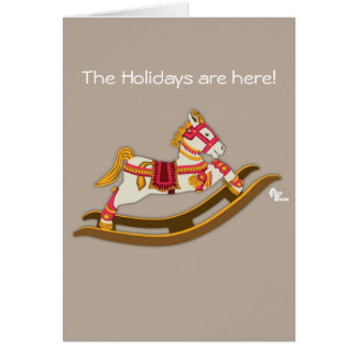 Rocking Horse Holiday Card