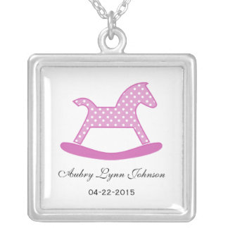 Rocking Horse Newborn Baby Necklace