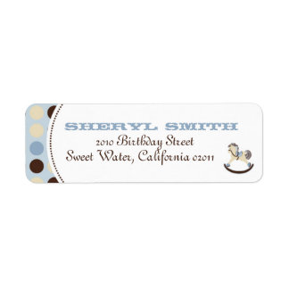 Rocking Horse Return Label