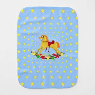Rocking Horse Riding the Stars Burp Cloth