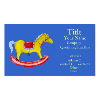 Rocking Horse - Traditional Toys (Primary Colours) Business Card Templates