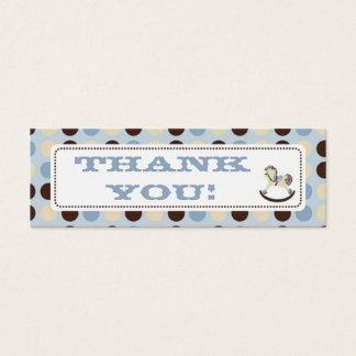 Rocking Horse TY Skinny Gift Tag 2 Mini Business Card