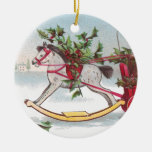 Rocking Horse Vintage Christmas Ornament