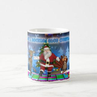 Rocking Santa Christmas Mug