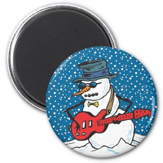 Rocking Snowman Magnet