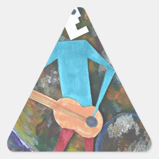 Rocking the cosmos triangle sticker