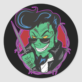 RockitJohnny_UndeadGhoulie Classic Round Sticker