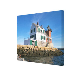 Rockland Breakwater Lighthouse, Maine Canvas Print
