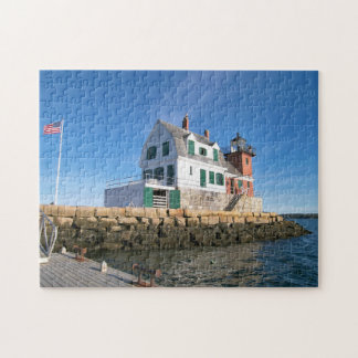Rockland Breakwater Lighthouse Penobscot Bay Maine Puzzles