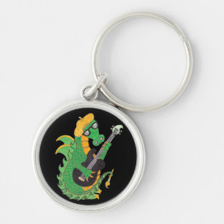 Rock'n Dragon Silver-Colored Round Key Ring