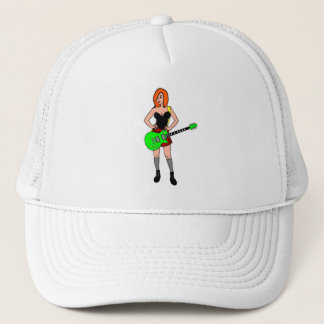 Rock'n'roll girl trucker hat