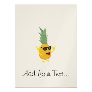 rock'n'roll pineapple 17 cm x 22 cm invitation card