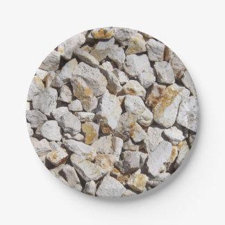 Rocks 7 Inch Paper Plate