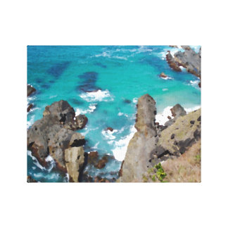 Rocks and Ocean Canvas Print