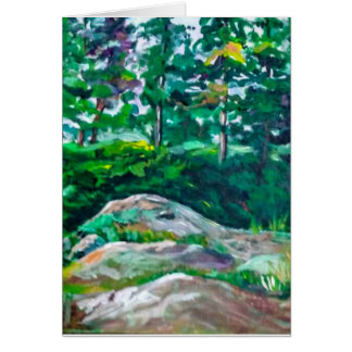 Rocks and trees card