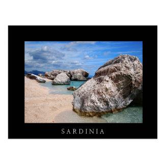 Rocks at Cala Mariolu beach, Sardinia black card