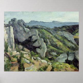 Rocks at L'Estaque, 1879-82 Poster