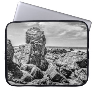 Rocks at Shore in Praia Malhada Jericoacoara Brazi Laptop Sleeve