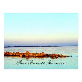 Rocks at Sunset - Ross Barnett Reservoir Postcard