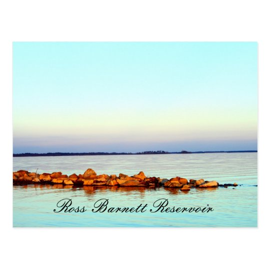 Rocks at Sunset - Ross Barnett Reservoir Postcard