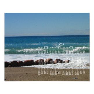 Rocks at the Beach; 2013 Calendar Photographic Print