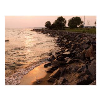 Rocks at Waterfront Postcard