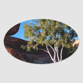 Rocks Balancing Northern Territory Australia Oval Sticker