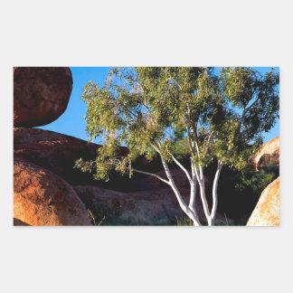 Rocks Balancing Northern Territory Australia Rectangle Sticker