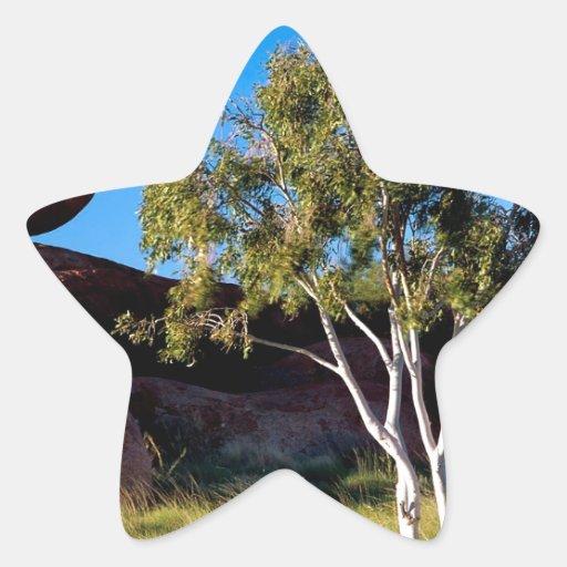 Rocks Balancing Northern Territory Australia Star Sticker