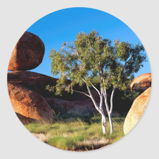 Rocks Balancing Northern Territory Australia Round Stickers