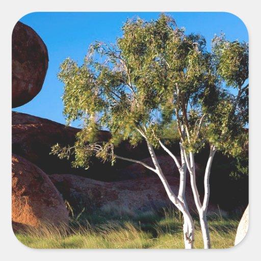 Rocks Balancing Northern Territory Australia Square Sticker