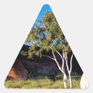 Rocks Balancing Northern Territory Australia Triangle Sticker