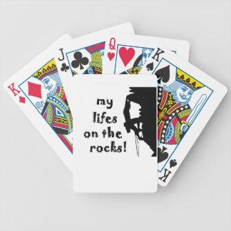 rocks bicycle playing cards