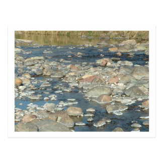rocks from the river postcard