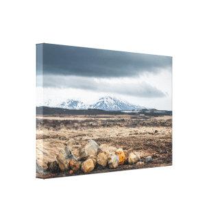 Rocks in rough mountain landscape canvas print