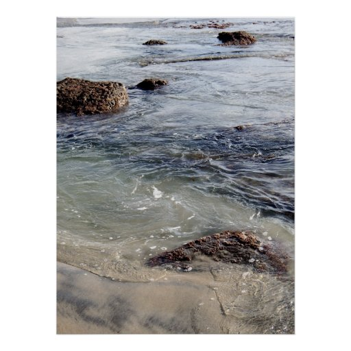 Rocks in the Surf at Torrey Pines State Beach, CA Print
