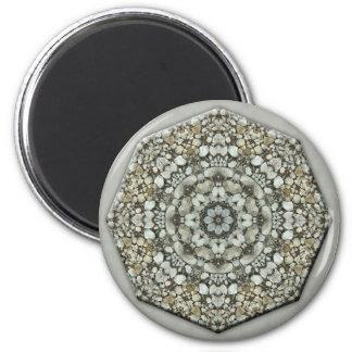 Rocks Mandala Design 6 Cm Round Magnet