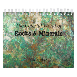 Rocks & Minerals Photo Wall Calendars