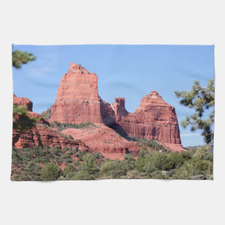 Rocks near Sedona, Arizona Tea Towel