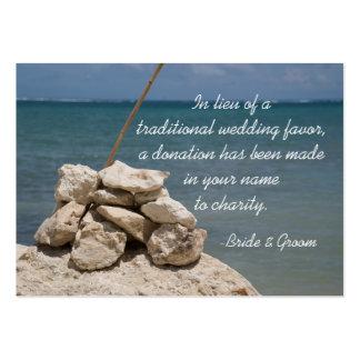 Rocks on Beach Wedding Charity Favor Card Pack Of Chubby Business Cards