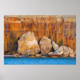Rocks, Pictured Rocks Nat'l Lakeshore, Michigan Poster