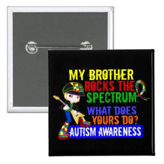 Rocks Spectrum Autism 15 Cm Square Badge