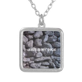 Rocks Square Pendant Necklace