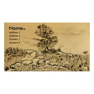 Rocks with Oak Tree, Vincent van Gogh Business Cards