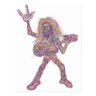 rockstar art postcard