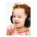 Rockstar Holiday Photo Card - Fa La La Singing Personalised Announcement