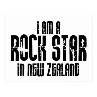 Rockstar In New Zealand Postcard